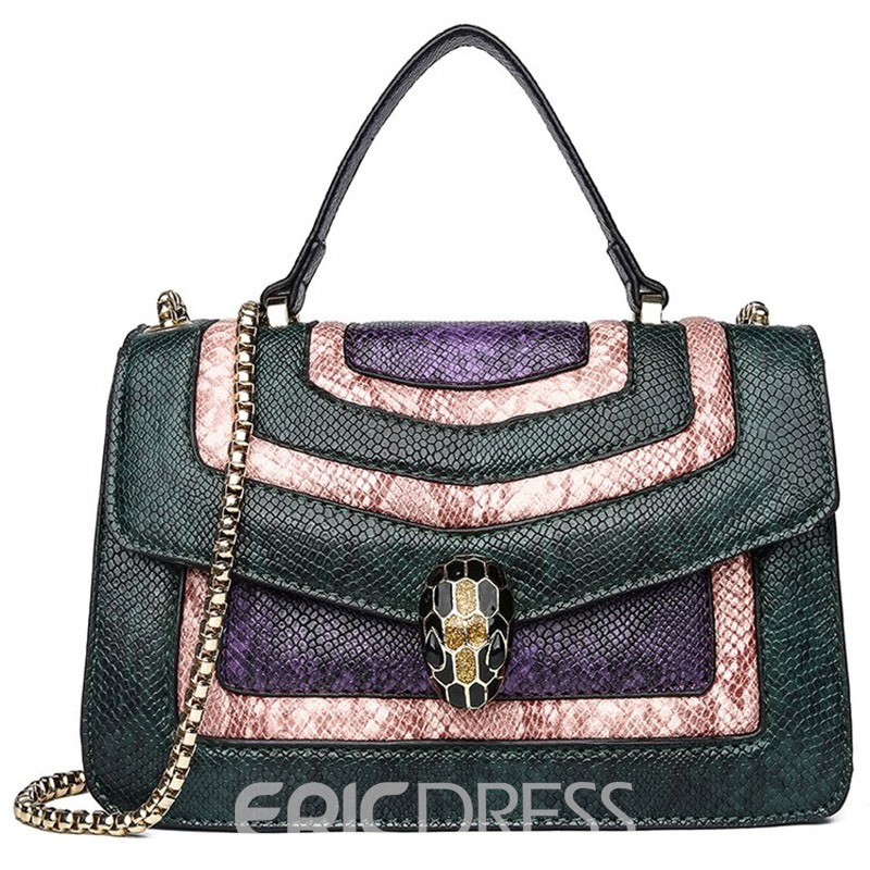 Ericdress Chain PU Serpentine Rectangle Tote Bag
