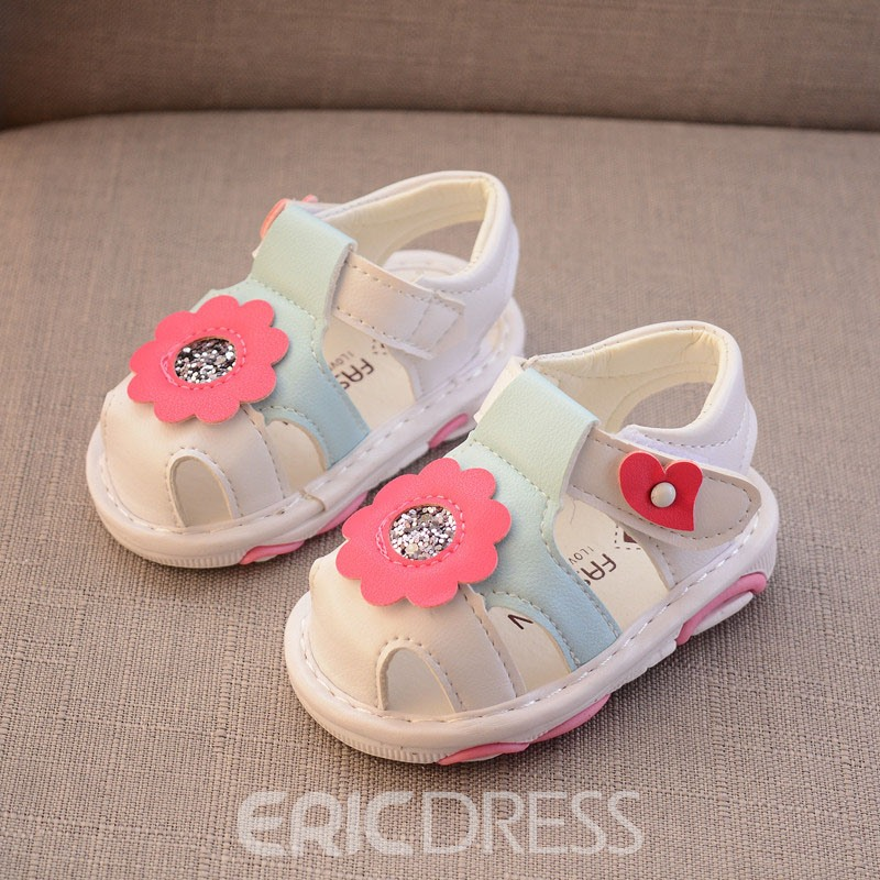Ericdress Floral Color Block Baby Shoes