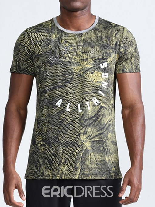 Ericdress Print Camouflage Casual Loose Mens Short Sleeve T-shirt