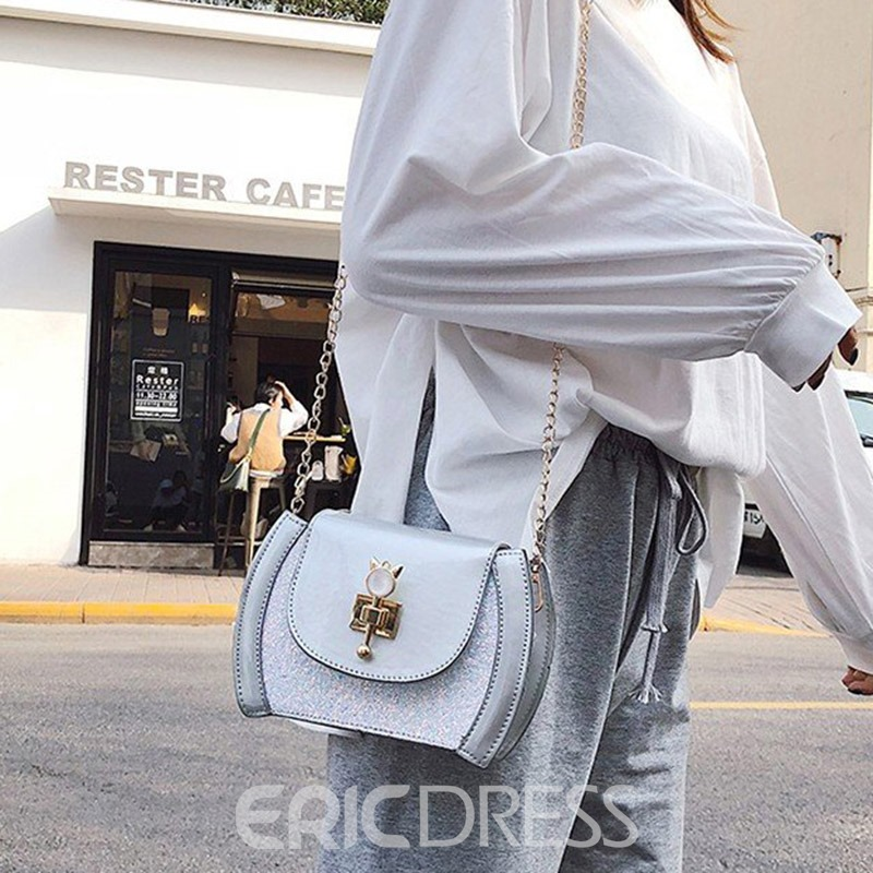 Ericdress Thread PU Plain Crossbody Bag