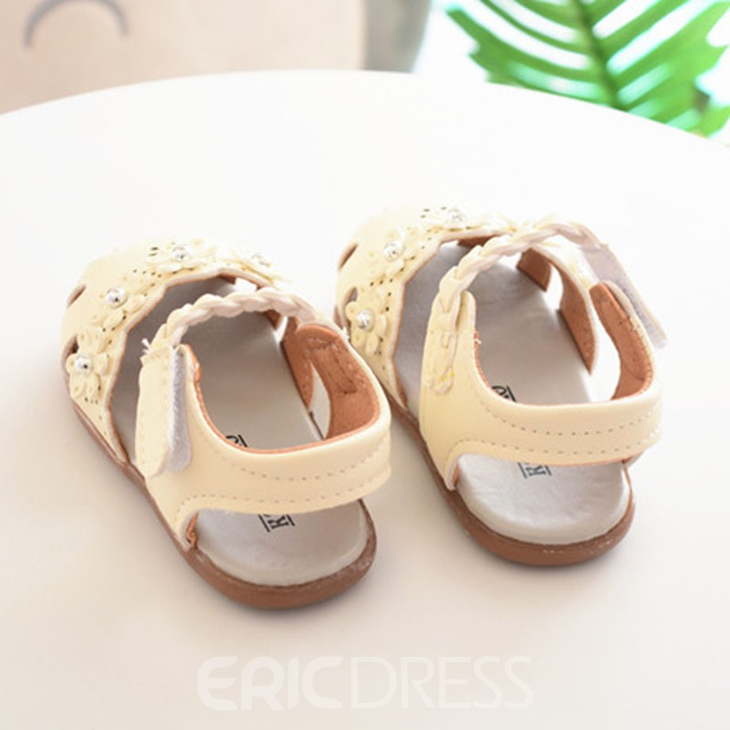 Ericdress Floral Plain Baby Shoes