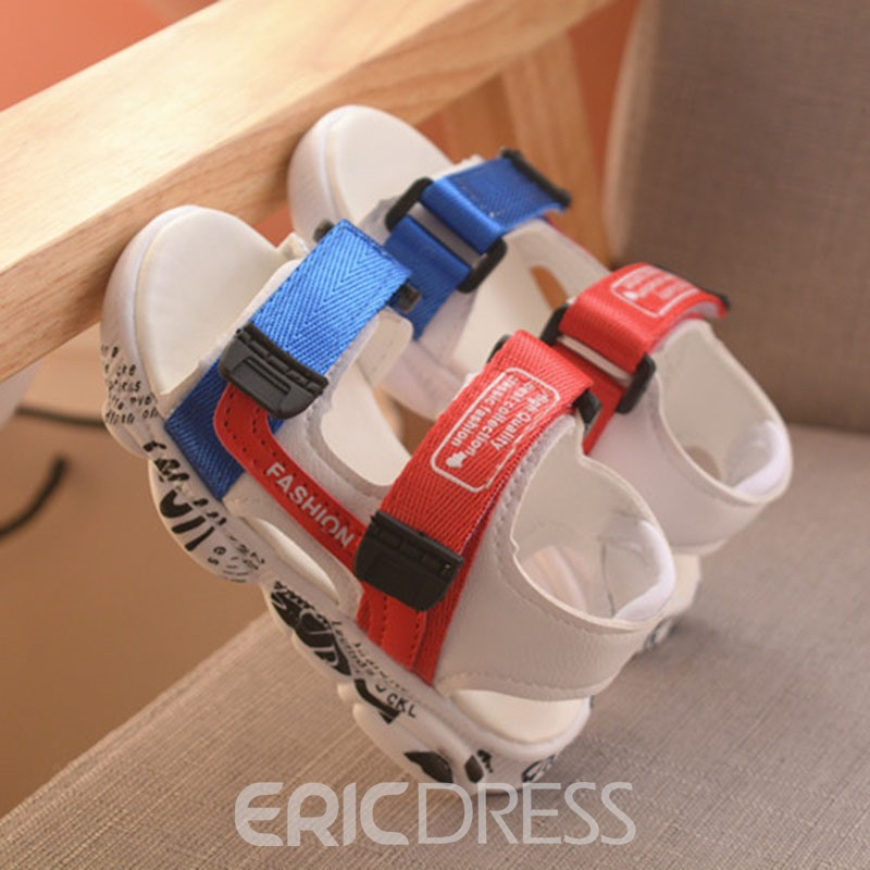 Ericdress Color Block Open Toe Baby Shoes