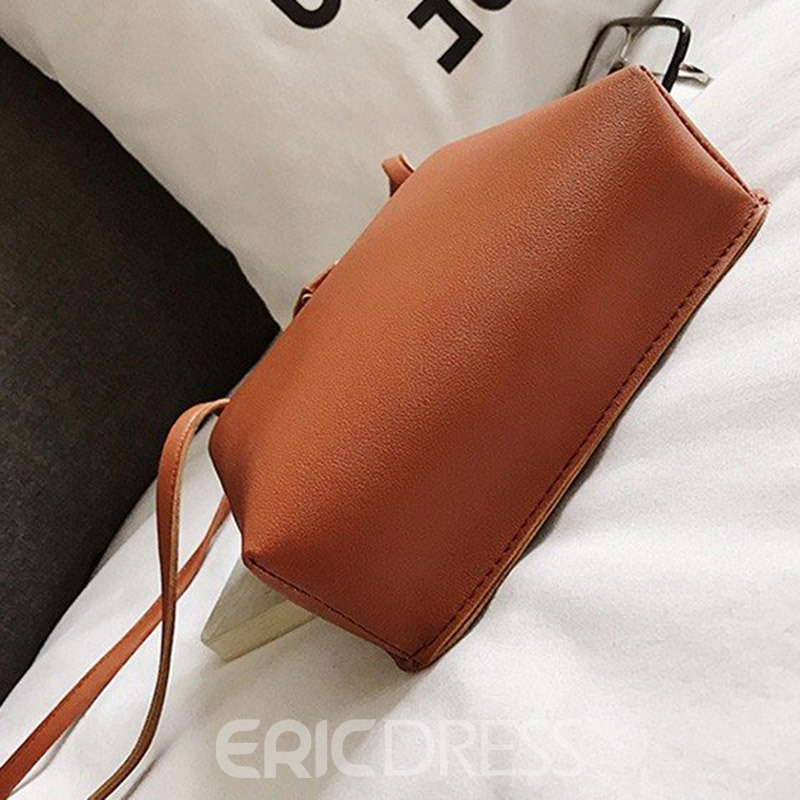 Ericdress hread Plain Rectangle Crossbody Bag