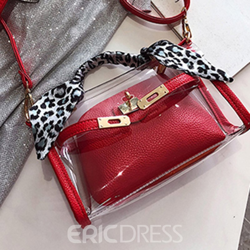 Ericdress PVC Lock Rectangle Tote Bag
