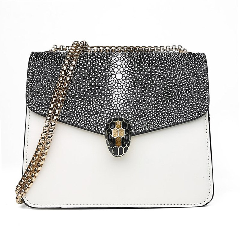 Ericdress Stone Solid Sequins Clash Colors Square Crossbody Bag