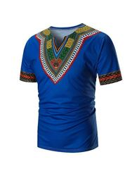 Ericdress African Fashion Dashiki Ethnic Mens Short Sleeve T-shirt фото