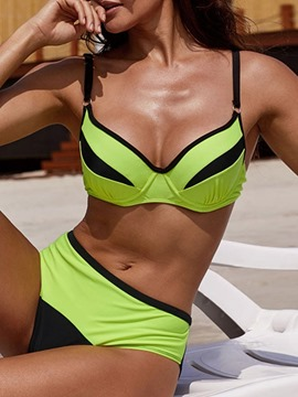 Ericdress Color Block Tankini Set Skimpy Swimsuit