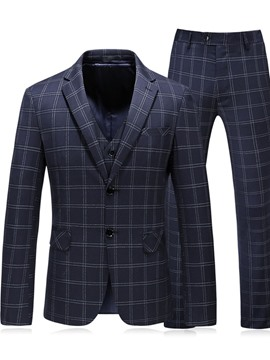 ericdress fashion blazer à carreaux costume pour homme