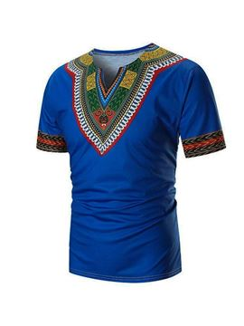 Ericdress African Fashion Dashiki Ethnic Mens Short Sleeve T-shirt