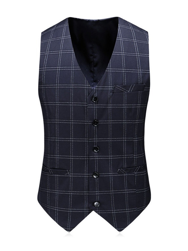 Ericdress Fashion Plaid Blazer Herren Anzug