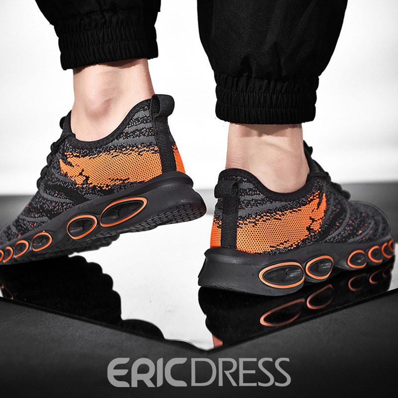Ericdress Round Toe Lace-Up Men's Running Shoes