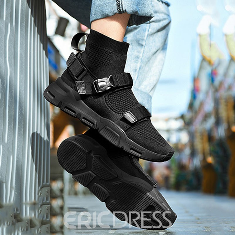 Ericdress Mesh High-Cut Upper Velcro Round Toe Men's Sneakers