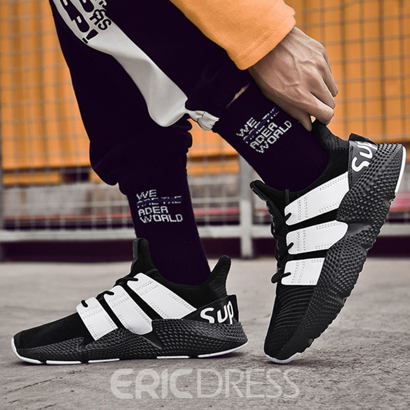 Ericdress PU Low-Cut Upper Lace-Up Round Toe Men's Sneakers