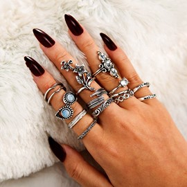 Ericdress Alloy Diamante Ethnic Style Rings