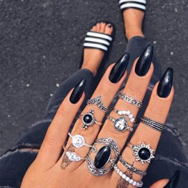 Ericdress Diamante Alloy Baroque Style Ring Sets