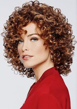 Ericdress Short Fluffy Afro Curly Lace Front Cap Wigs Synthetic Hair Wigs 18Inch