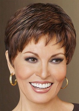 Ericdress Women/Ladies Short Straight Hair Synthetic Hair Wig Brown Lace Front Wig 10Inch