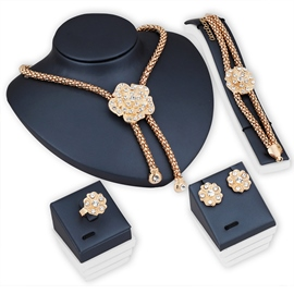 european floral ring jewelry sets (hochzeit)