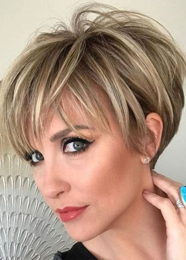 Ericdress Short 100% Human Hair Wig Women's Natural Looking Lace Front Wig 12inch