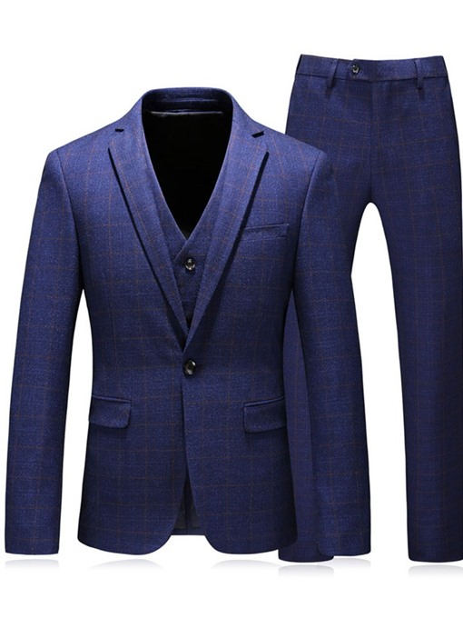 Ericdress Blazer Mens One Button Dress Suit
