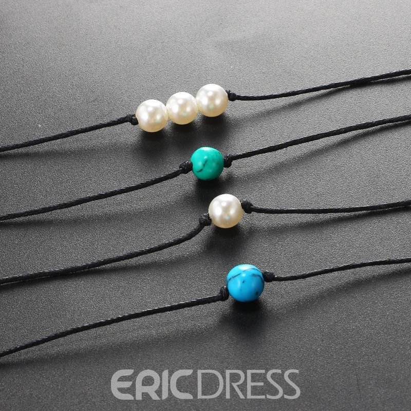 Ericdress Sweet Beads Simple Female Anklets