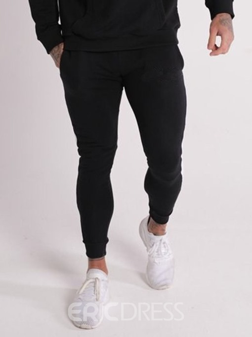 Ericdress Color Block Pocket Lace-Up Mens Casual Pants