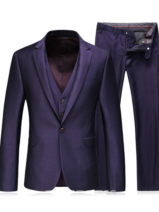 Ericdress Plain Fashion Pocket Mens Dress Suit