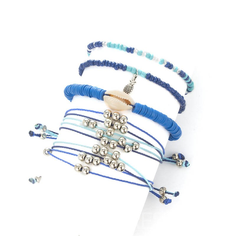 Ericdress Blue Woven Ethnic Female Bracelets