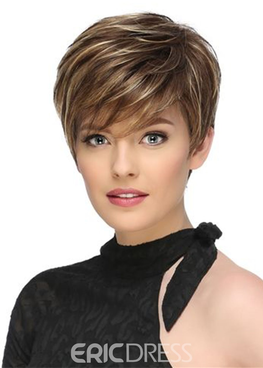 Ericdress Summer Women's Short Straight Synthetic Hair Capless Wigs 10Inch