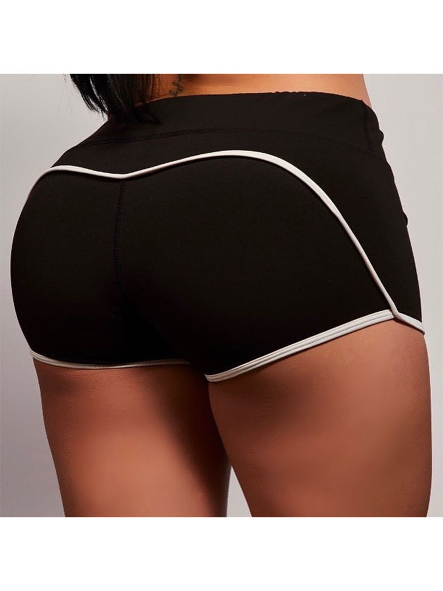 Ericdress Women Breathable Color Block Shorts Yoga Pants