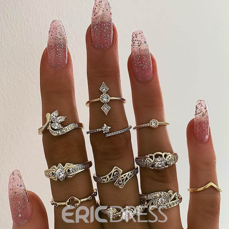 Ericdress Alloy Vintage Silver Rings