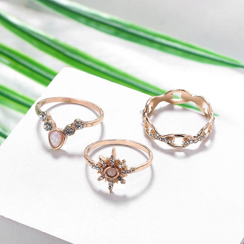 Ericdress Alloy Vintage Diamante Rings
