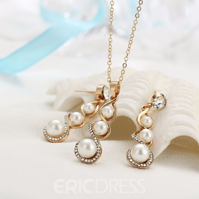 Earrings European Floral Jewelry Sets (Wedding)