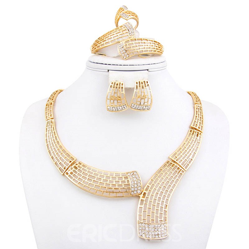 Ericdress Diamante Ring Hollow Out Jewelry Sets