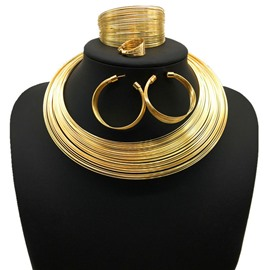 Ericdress Hoop Nigeria Style Golden Jewelry Sets