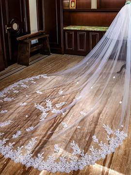 Ericdress Sequins Appliques Cathedral Wedding Veil