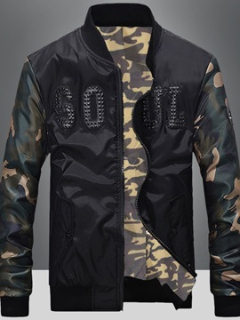 Ericdress Stand Collar Camouflage Print Casual Men's Jacket