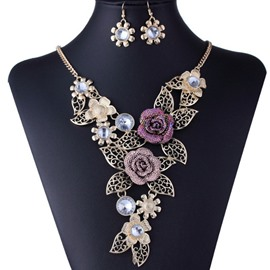 Ericdress Flower Jewelry Set