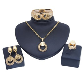 Ericdress Gloden Jewelry Set
