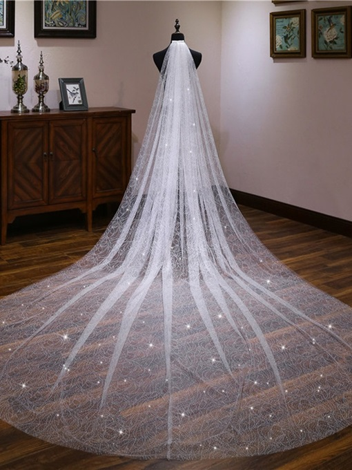 Ericdress Shiny Cathedral Wedding Veil 2019