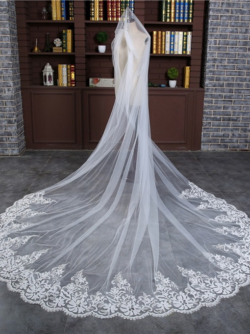 Ericdress Appliques Edge Wedding Veil 2019