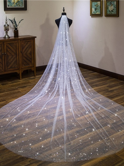 Ericdress Star Sequins Wedding Veil 2019