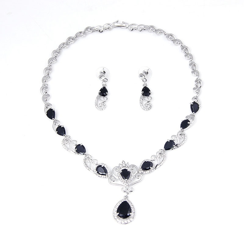 Ericdress Diamante Blue Gems Jewelry Sets