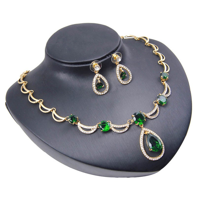 Ericdress Diamante Greem Jewelry Sets