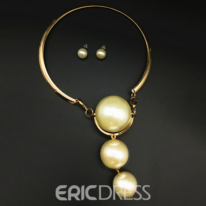 Ericdress Pearl Inlaid Style Jewelry Set