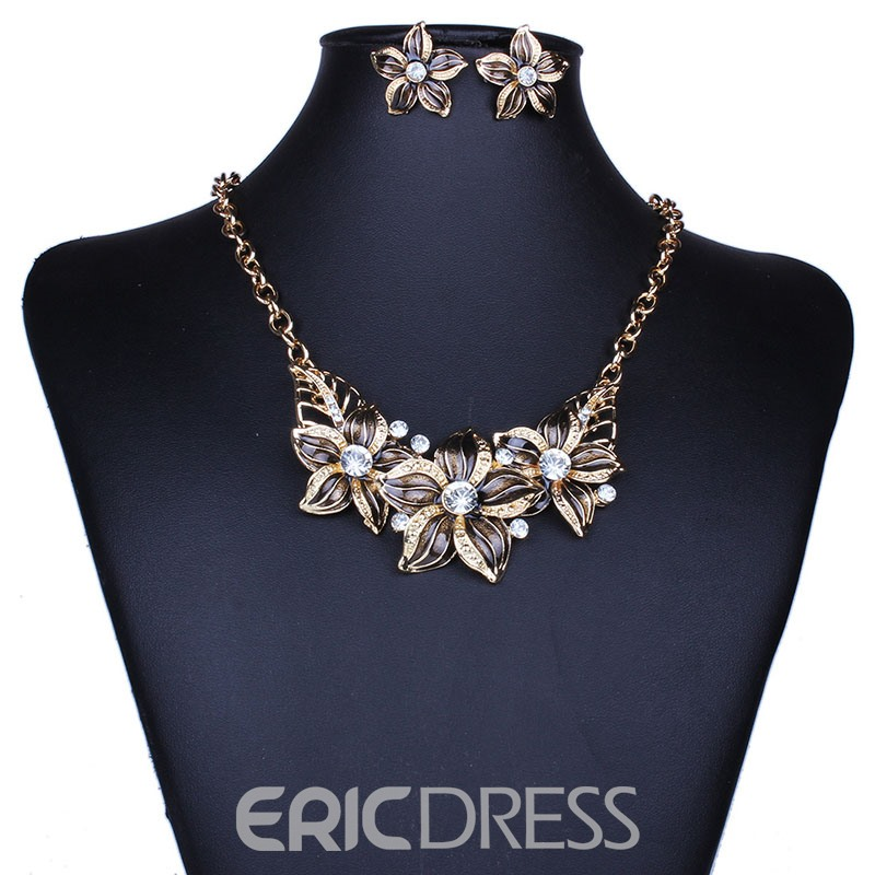 Ericdress Diamante Floral Fashion Jewelry Sets