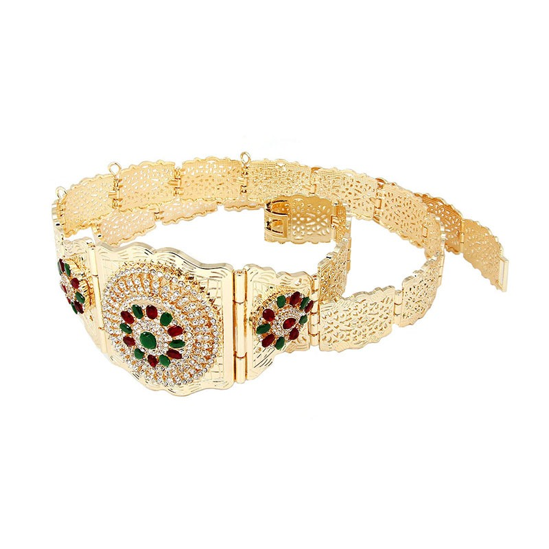 Ericdress Ethnic Diamond Metal Belt