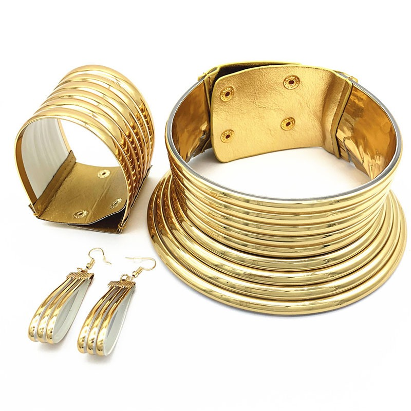 Ericdress Wild Nigeria Style Golden Jewelry Set