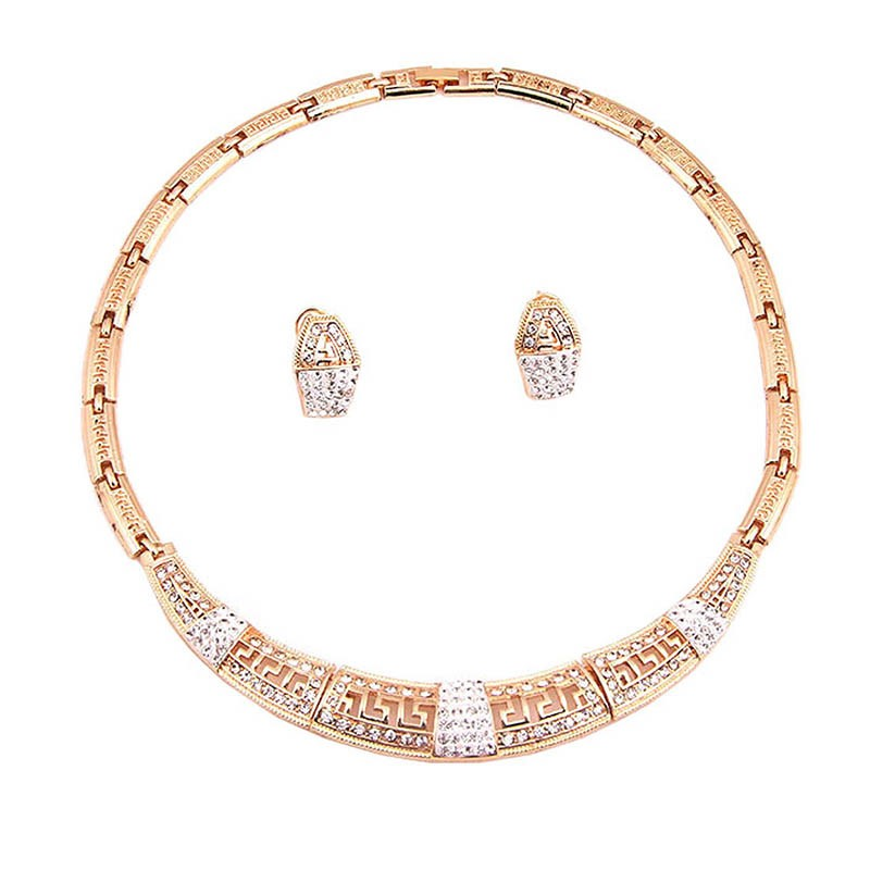 Ericdress Diamante Plain Nigeria Style Jewelry Set