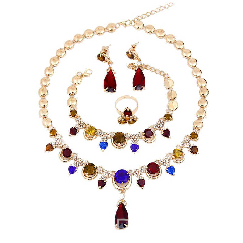 Ericdress Colour Gems Engagement Jewelry Sets
